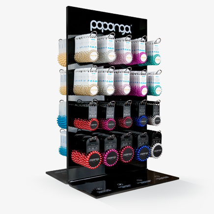 Design Acryl Display <br> Black Beauty - 400 Artikel